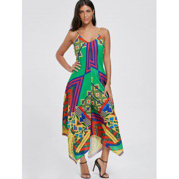 Printed Asymmetric Cami Palazzo Jumpsuit - COLORMIX S