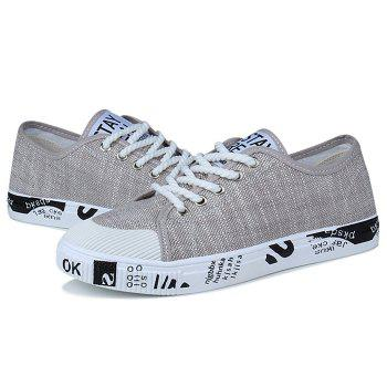 Letter Print Tie Up Casual Shoes - 40 40