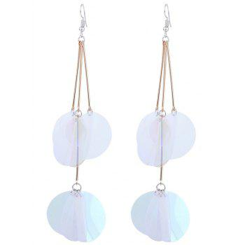 Gradient Color Design Drop Earrings - TRANSPARENT TRANSPARENT