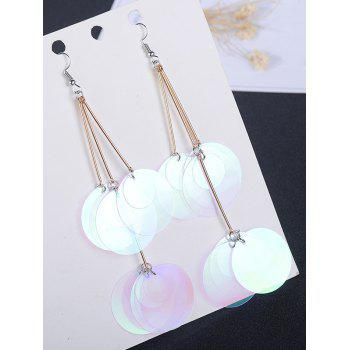 Round Pieces Gradient Color Design Drop Earrings -  TRANSPARENT