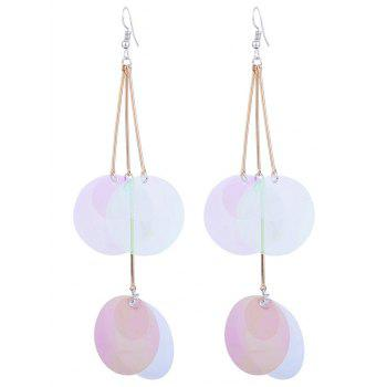 Round Pieces Gradient Color Design Drop Earrings - TRANSPARENT TRANSPARENT