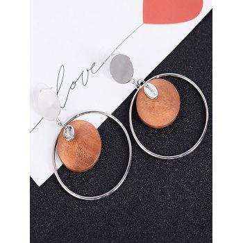 Round Piece Metallic Circle Drop Earrings -  SPICE