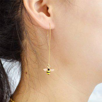 Cute Honeybee Chain Earrings -  GOLDEN
