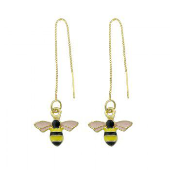 Cute Honeybee Chain Earrings - GOLDEN GOLDEN