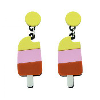 Cute Round Ice Cream Drop Earrings - COLORMIX COLORMIX