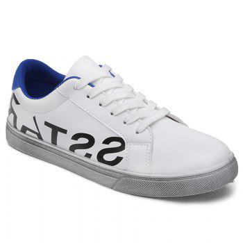 Letter Print Faux Leather Sneaker