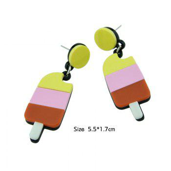 Cute Round Ice Cream Drop Earrings - COLORMIX