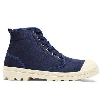 High-top Faux Suede Casual Shoes