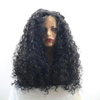 Lace Front Long Free Part Shaggy Curly Synthetic Wig