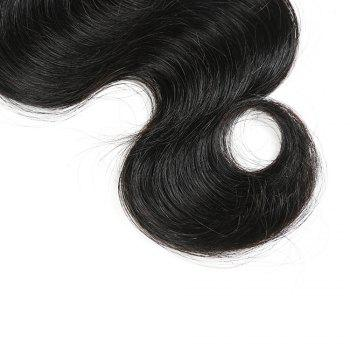 1Pc Long Body Wave Indian Human Hair Weft - NATURAL BLACK 20INCH