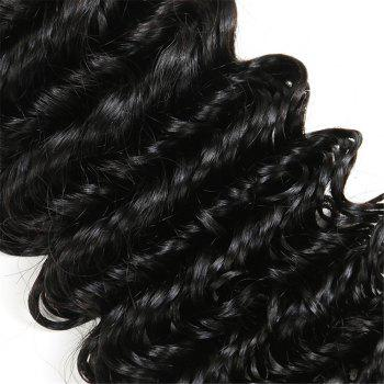 1Pc Long Deep Wave Indian Human Real Hair Weave - 16INCH 16INCH
