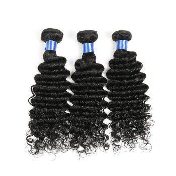 1Pc Long Deep Wave Indian Human Real Hair Weave