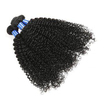 1Pc Indian Long Jerry Curl Human Hair Weave - NATURAL BLACK 16INCH
