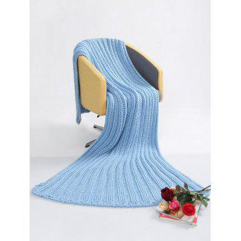 Super Soft Chunky Knitted Throw Blanket - ICE BLUE 116*200CM