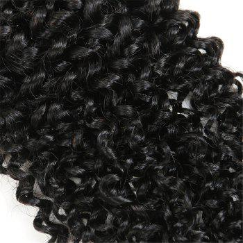 1Pc Indian Long Jerry Curl Human Hair Weave - NATURAL BLACK NATURAL BLACK