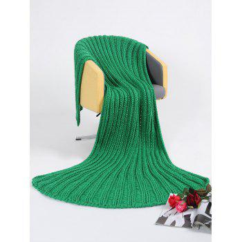 Super Soft Chunky Knitted Throw Blanket - GREEN GREEN