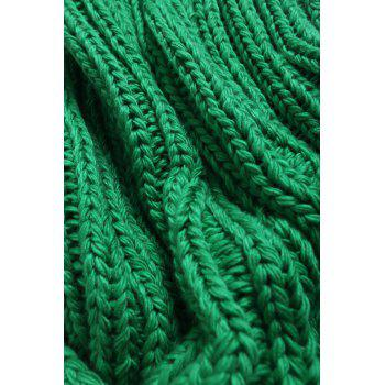 Super Soft Chunky Knitted Throw Blanket - GREEN 116*200CM