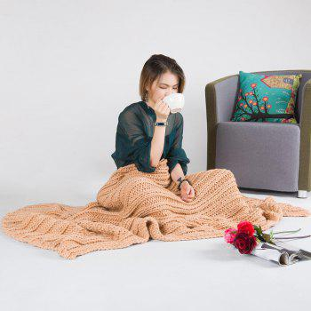 Super Soft Chunky Knitted Throw Blanket - 116*200CM 116*200CM