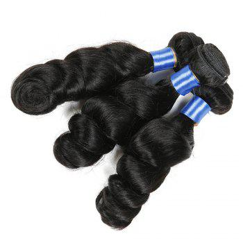 1Pc Long Loose Wave Indian Human Hair Weft - NATURAL BLACK NATURAL BLACK