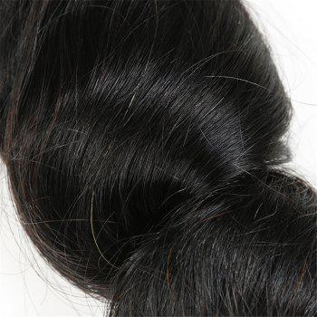 1Pc Long Loose Wave Indian Human Hair Weft - NATURAL BLACK 18INCH