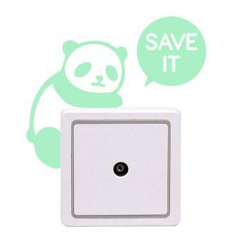 Bricolage Panda Shape Fluorescent Switch Wall Stickers - Vert