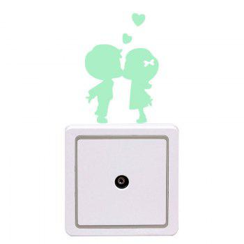 Fluorescent Couples Shape Switch Wall Stickers - Vert