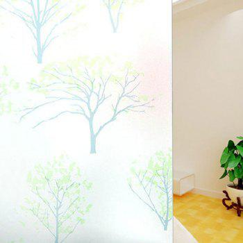 Film électrostatique PVC Life Tree Glass Wall Sticker - Vert