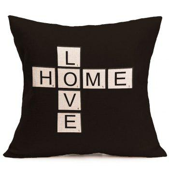 Love Home Printed Linen Decorative Pillow Case - W18 INCH * L18 INCH W18 INCH * L18 INCH