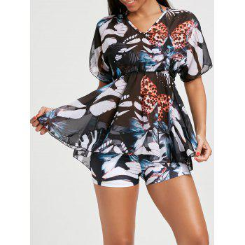 Butterfly Halter Bikini with Flounce Cover-Up