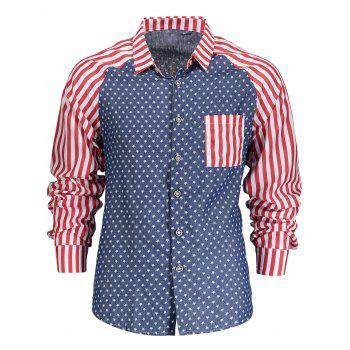 Button Stars and Stripes Casual Shirt