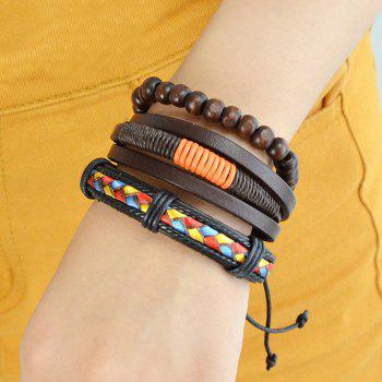 Faux Leather Braid Beaded Friendship Bracelets