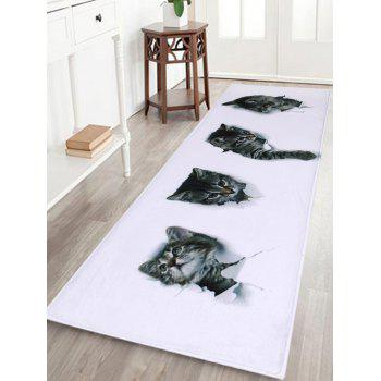 Coral Velvet Cute Cats Home Entrance Rug