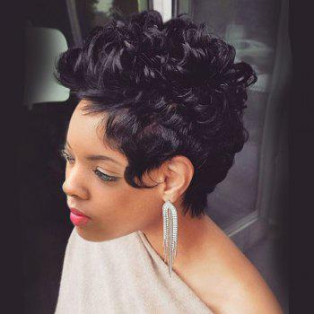 Short Layered Bouffant Curly Synthetic Wig