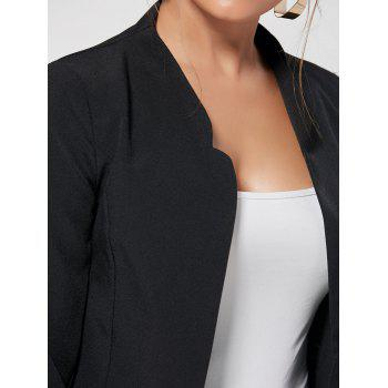 Collarless Cropped Blazer - M M