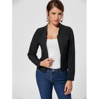 Blazer coupé sans collier - [