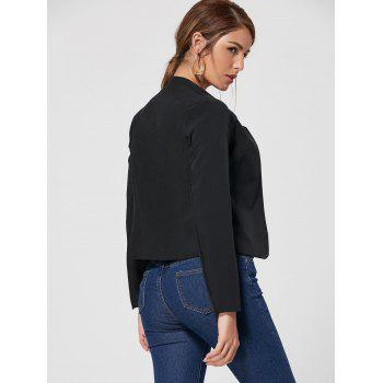 Collarless Cropped Blazer - BLACK XL