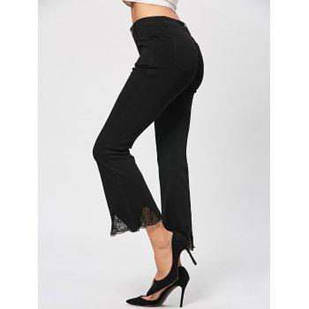 Lace Trim Flare Pants