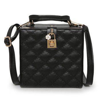 Quilted Box Shaped Crossbody Bag