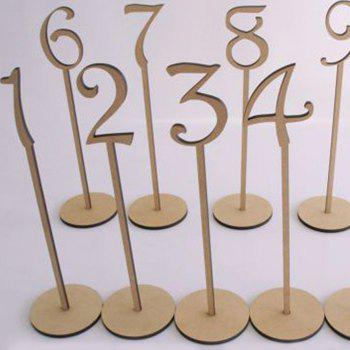 Wedding Wooden Table Numbers -  IVORY YELLOW