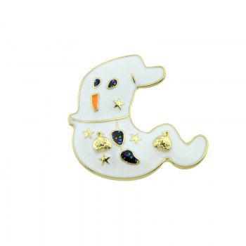 Halloween Star Pumpkin Ghost Brooch - GOLDEN GOLDEN
