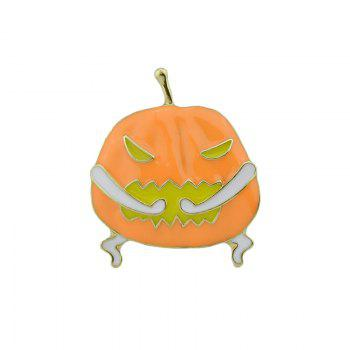 Funny Devil Halloween Pumpkin Brooch - GOLDEN GOLDEN