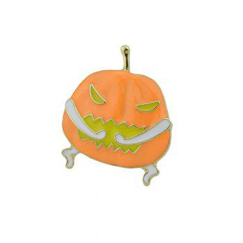 Funny Devil Halloween Pumpkin Brooch -  GOLDEN