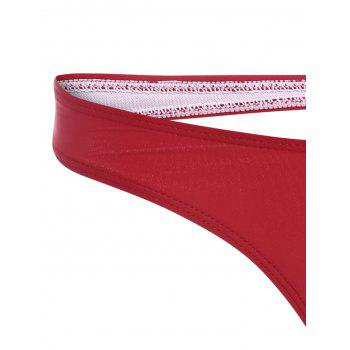 Cut Out Bikini Thong - RED RED