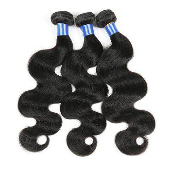 1Pc Long Body Wave Indian Human Hair Weft - NATURAL BLACK NATURAL BLACK