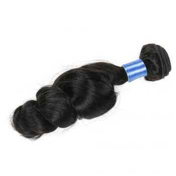 1Pc Long Loose Wave Indian Human Hair Weft - NATURAL BLACK 16INCH