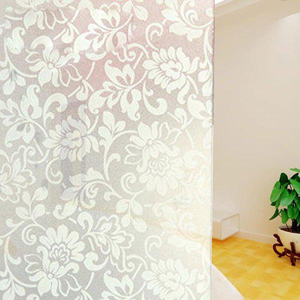 Electrostatic PVC Flower Glass Wall Sticker все цены