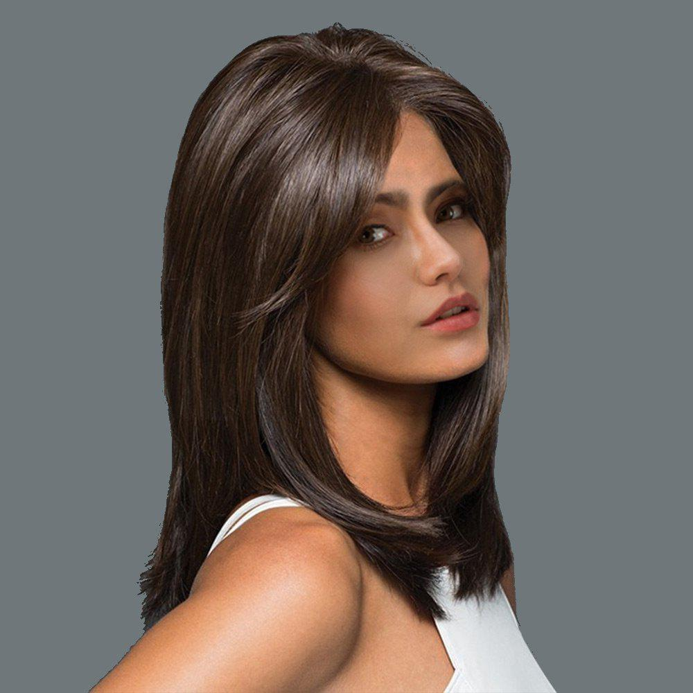 Inclined Bang Long Straight Synthetic Wig short pixie cut capless straight inclined bang synthetic wig
