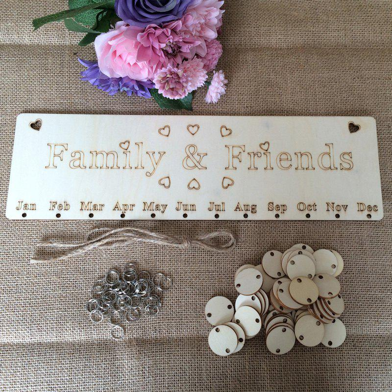 DIY Wooden Family And Friends Birthday Calendar - ROUND