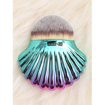 Two Tone Ocean Shell Plated Foundation Brush - GRAY GRAY