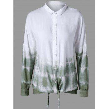 Drop Shoulder Tie Dye Shirt